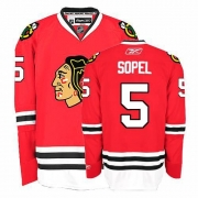 Reebok Chicago Blackhawks 5 Brent Sopel Authentic Red Home Man NHL Jersey
