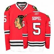 Reebok Chicago Blackhawks 5 Brent Sopel Authentic Red Home Man NHL Jersey