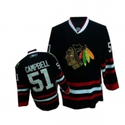 Reebok Chicago Blackhawks 51 Brian Campbell Authentic Black Man NHL Jersey