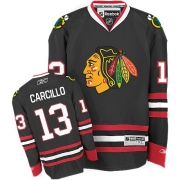 Reebok Chicago Blackhawks 13 Dan Carcillo Black Authentic NHL Jersey