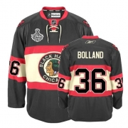 Reebok Chicago Blackhawks 36 Dave Bolland Authentic Black New Third Man NHL Jersey with Stanley Cup Finals