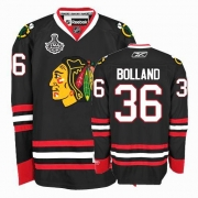 Reebok Chicago Blackhawks 36 Dave Bolland Premier Black Man NHL Jersey with Stanley Cup Finals