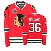 Reebok Chicago Blackhawks 36 Dave Bolland Premier Red Home Man NHL Jersey with Stanley Cup Finals