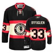 Reebok Chicago Blackhawks 33 Dustin Byfuglien Authentic Black New Third Man NHL Jersey