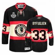 Reebok Chicago Blackhawks 33 Dustin Byfuglien Authentic Black New Third Man NHL Jersey with Stanley Cup Finals