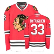 Youth Reebok Chicago Blackhawks 33 Dustin Byfuglien Authentic Red Home NHL Jersey