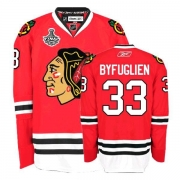 Reebok Chicago Blackhawks 33 Dustin Byfuglien Premier Red Home Man NHL Jersey with Stanley Cup Finals