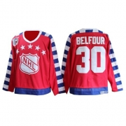 CCM Chicago Blackhawks 30 ED Belfour Red Throwback All Star With 75TH Patch Premier NHL Jersey
