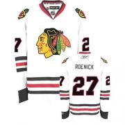 Reebok Chicago Blackhawks 27 Jeremy Roenick Authentic White Man NHL Jersey