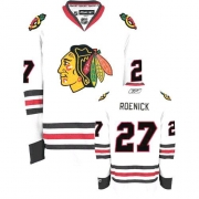 Reebok Chicago Blackhawks 27 Jeremy Roenick Premier White Man NHL Jersey