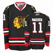Reebok Chicago Blackhawks 11 John Madden Authentic Black Man NHL Jersey