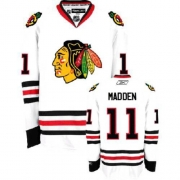 Reebok Chicago Blackhawks 11 John Madden Authentic White Man NHL Jersey