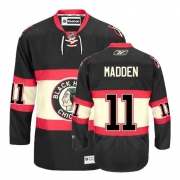 Reebok Chicago Blackhawks 11 John Madden Premier Black New Third Man NHL Jersey