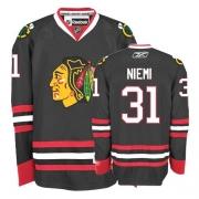 Reebok Chicago Blackhawks 31 Antti Niemi Authentic Black Man NHL Jersey