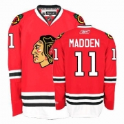 Reebok Chicago Blackhawks 11 John Madden Authentic Red Home Man NHL Jersey