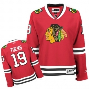Reebok Chicago Blackhawks 19 Jonathan Toews Red Women Home Premier NHL Jersey