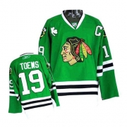 Youth Reebok Chicago Blackhawks 19 Jonathan Toews Premier Green NHL Jersey