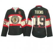 Reebok Chicago Blackhawks 19 Jonathan Toews Black Women's New Third Premier NHL Jersey