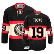Youth Reebok Chicago Blackhawks 19 Jonathan Toews Premier Black New Third NHL Jersey