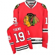 Youth Reebok Chicago Blackhawks 19 Jonathan Toews Premier Red Home NHL Jersey