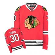 Reebok Chicago Blackhawks 30 Marty Turco Red Home Authentic NHL Jersey