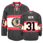 Youth Reebok Chicago Blackhawks 31 Antti Niemi Authentic Black New Third NHL Jersey