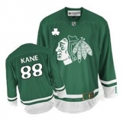 Youth Reebok Chicago Blackhawks 88 Patrick Kane Authentic Green St Patty's Day NHL Jersey