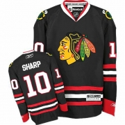 Youth Reebok Chicago Blackhawks 10 Patrick Sharp Authentic Black NHL Jersey