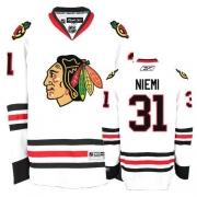 Reebok Chicago Blackhawks 31 Antti Niemi Authentic White Man NHL Jersey