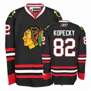 Reebok Chicago Blackhawks 82 Tomas Kopecky Authentic Black Man NHL Jersey