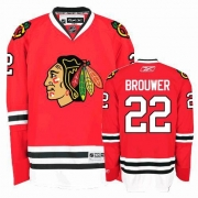Reebok Chicago Blackhawks 22 Troy Brouwer Authentic Red Home Man NHL Jersey