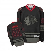 Reebok Chicago Blackhawks 81 Marian Hossa Black Ice Authentic NHL Jersey