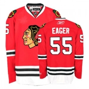 Reebok Chicago Blackhawks 55 Ben Eager Premier Red Home Man NHL Jersey