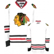 Reebok Chicago Blackhawks Authentic Blank White Man NHL Jersey
