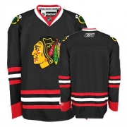 Reebok Chicago Blackhawks Authentic Blank Black Man NHL Jersey