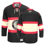 Reebok Chicago Blackhawks Authentic Blank Black New Third Man NHL Jersey