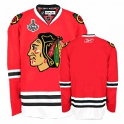 Reebok Chicago Blackhawks Authentic Blank Red Home Man NHL Jersey with Stanley Cup Finals