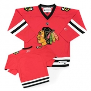 Youth Reebok Chicago Blackhawks Authentic Blank Red NHL Jersey