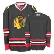 Reebok Chicago Blackhawks Premier Blank Black Man NHL Jersey