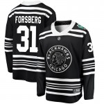 Fanatics Branded Chicago Blackhawks 31 Anton Forsberg Black 2019 Winter Classic Breakaway Men's NHL Jersey