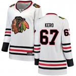 Fanatics Branded Chicago Blackhawks 67 Tanner Kero White Breakaway Away Women's NHL Jersey