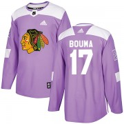 Adidas Chicago Blackhawks 17 Lance Bouma Authentic Purple Fights Cancer Practice Youth NHL Jersey
