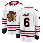 Fanatics Branded Chicago Blackhawks 6 Lou Angotti White Breakaway Away Men's NHL Jersey