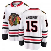 Fanatics Branded Chicago Blackhawks 15 Artem Anisimov White Breakaway Away Men's NHL Jersey