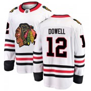 Fanatics Branded Chicago Blackhawks 12 Jake Dowell White Breakaway Away Men's NHL Jersey
