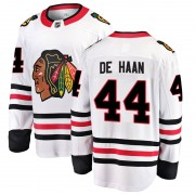 Fanatics Branded Chicago Blackhawks 44 Calvin de Haan White Breakaway Away Men's NHL Jersey