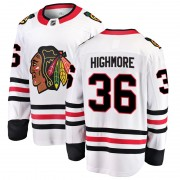 Fanatics Branded Chicago Blackhawks 36 Matthew Highmore White Breakaway Away Men's NHL Jersey