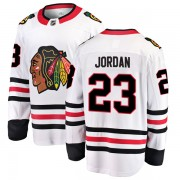 Fanatics Branded Chicago Blackhawks 23 Michael Jordan White Breakaway Away Men's NHL Jersey
