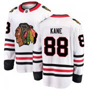 Fanatics Branded Chicago Blackhawks 88 Patrick Kane White Breakaway Away Men's NHL Jersey
