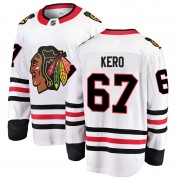 Fanatics Branded Chicago Blackhawks 67 Tanner Kero White Breakaway Away Men's NHL Jersey